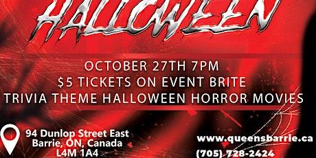 Halloween Horror Movie Trivia @ The Queens tickets