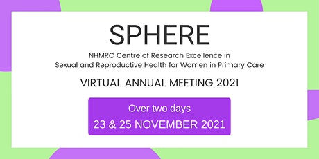 SPHERE Annual Meeting 2021 tickets