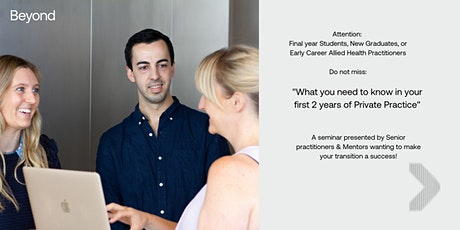 What we wish we knew in our first two years of private practice! tickets