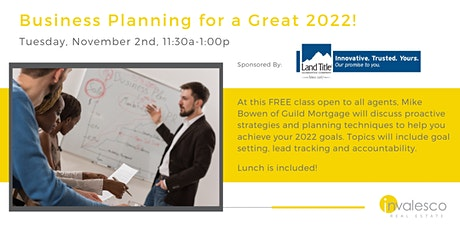 Business Planning for a Great 2022! tickets