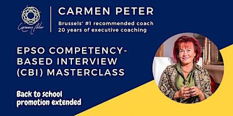 EPSO Competency-based Interview (CBI) Masterclass tickets