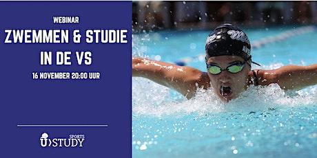 """Gratis webinar  Zwemmen & Studie in de VS"""" tickets"""
