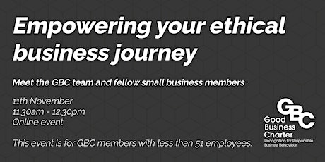 Empowering your ethical business journey tickets