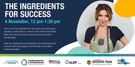 The Ingredients for Success tickets