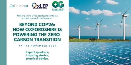 Beyond COP26: how Oxfordshire is powering the zero carbon transition tickets