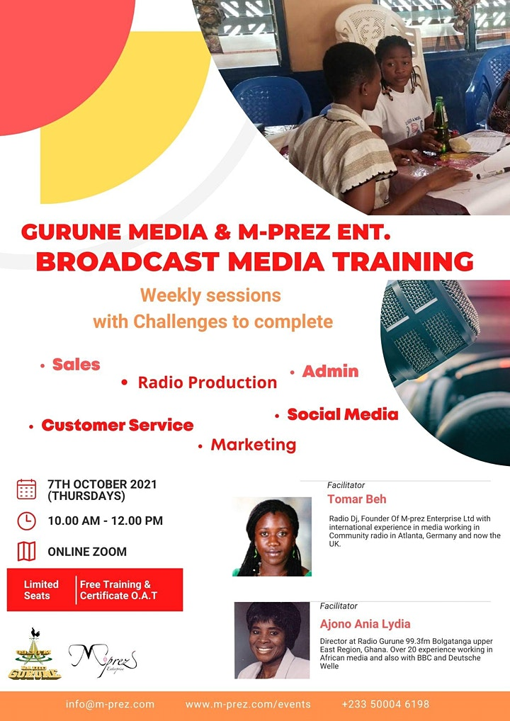 Gurune Media & M-prez  Ent. Broadcast Media Training image