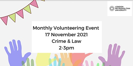 Monthly Online Volunteering Event November: focus  Crime & Law tickets