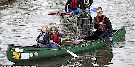 River Lea litter  pick on canoes tickets