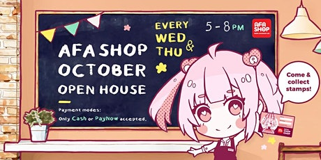 AFASHOP.co October Open House tickets