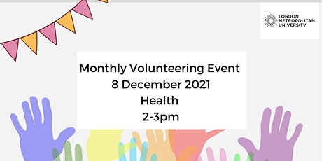 ORGANISATION REGISTRATION Online Volunteering Event December: Health tickets