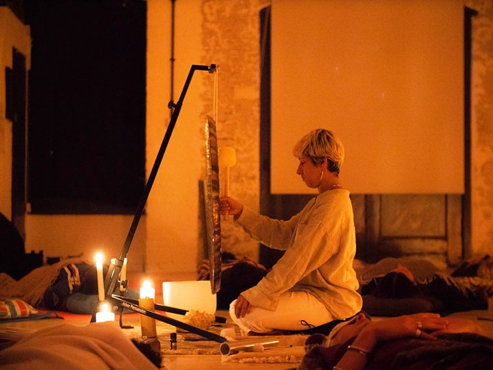 The Art of Tension: Poetry Performance + Gong bath image