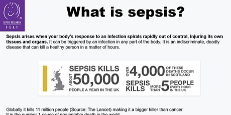 Sepsis Research FEAT 'lunch and learn' presentation for companies and staff tickets