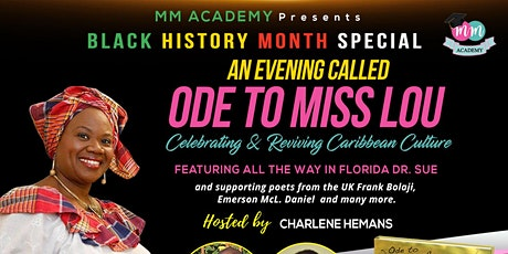 ODE TO MISS LOU celebrating & reviving caribbean culture. tickets