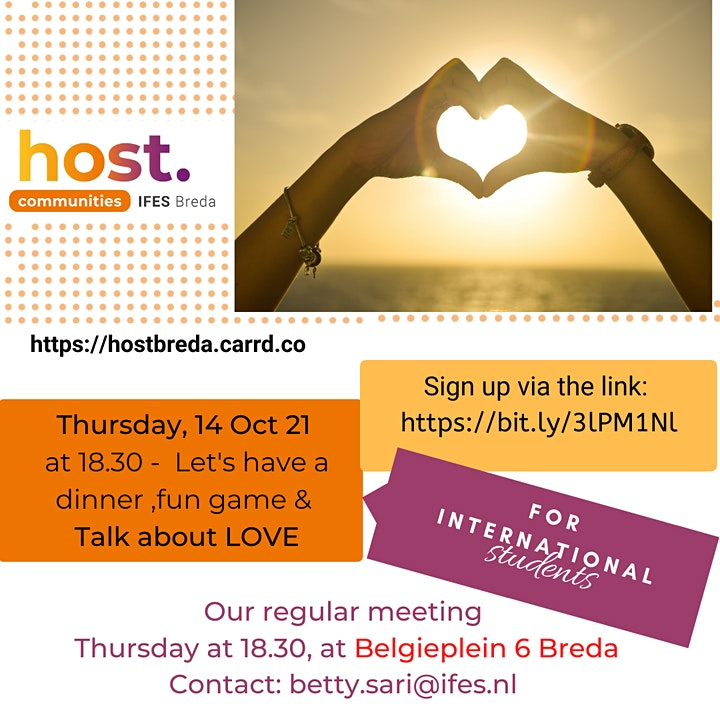 """Eat & Chat about """"LOVE"""" -  HOST-Breda image"""