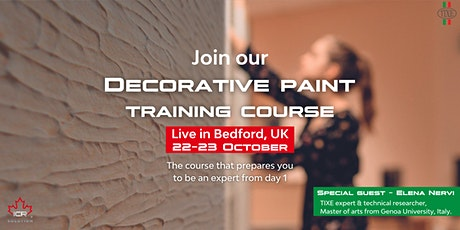 Decorative Paint Training Course powered by ICR Solution & TIXE tickets