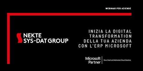 Inizia la Digital Transformation della tua azienda con l'ERP Microsoft biglietti