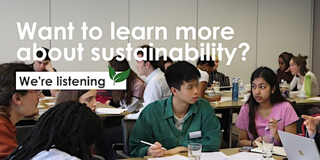 Introduction to Sustainability tickets