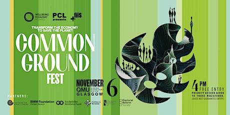 Common Ground Fest, 6 Nov at Glasgow QMU tickets