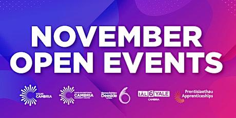 November Open Event  - Deeside tickets