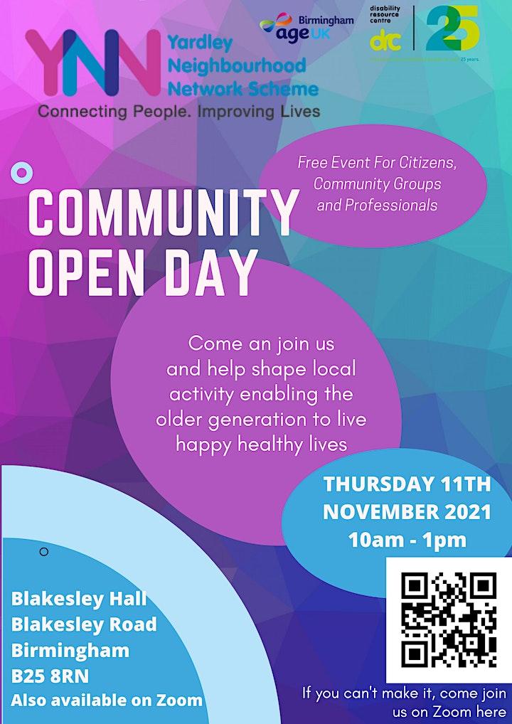 Community Open Day by the Yardley Neighbourhood Network Scheme image