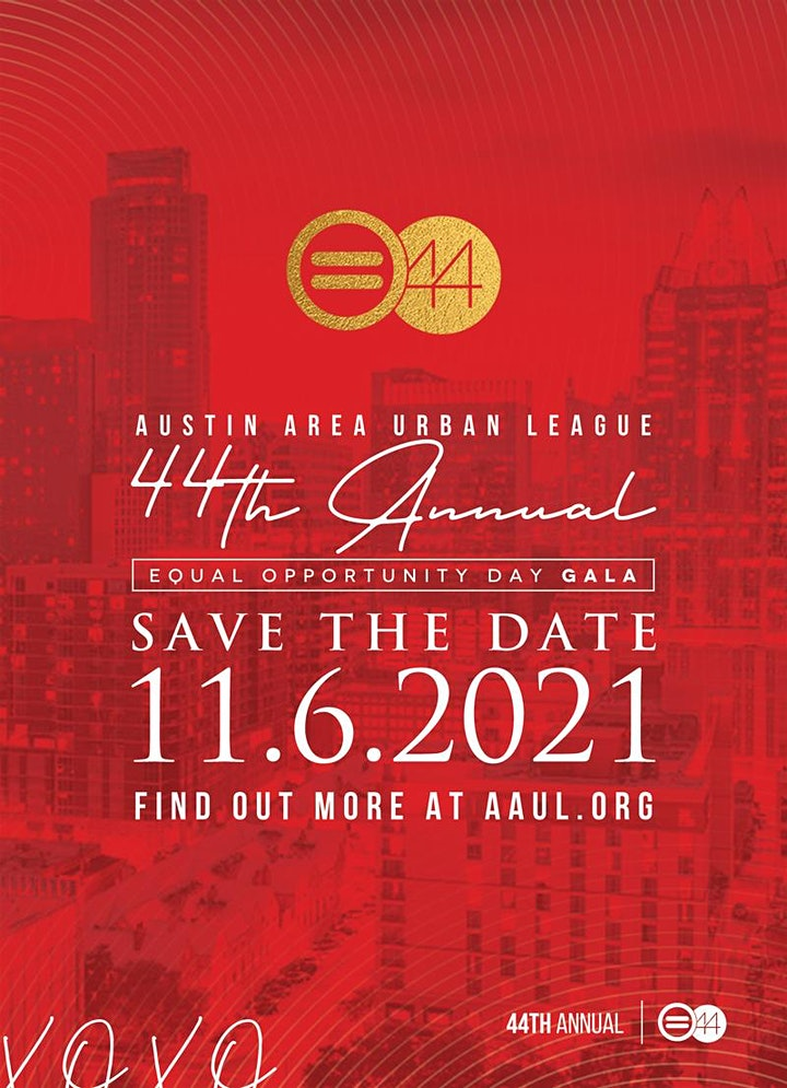 2021 Equal Opportunity Day Gala | Austin Area Urban League image
