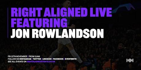 In conversation with Jon Rowlandson tickets