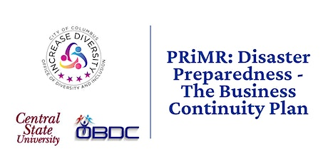 PRiMR: Disaster Preparedness - The Business Continuity Plan tickets