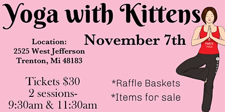 Yoga with Kittens -Fundraiser for BBR tickets