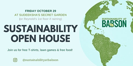 Sustainability Open House! tickets