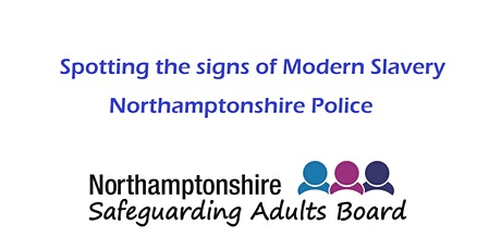 Modern Slavery - Spotting the signs and sharing tickets