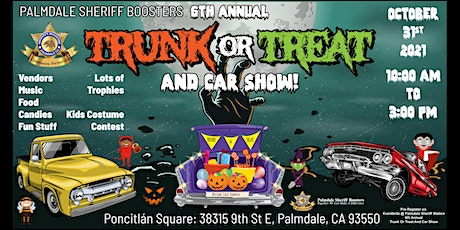 Palmdale Sheriff Booster's 6th annual Trunk or Treat and Car Show tickets