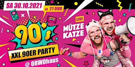 Die XXL 90er Party / Mütze Katze DJ Team Tickets