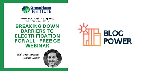 Breaking down barriers to electrification for all - Free CE Webinar tickets