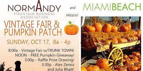 Vintage Fair & Pumpkin Patch at Normandy Fountain - Miami Beach tickets