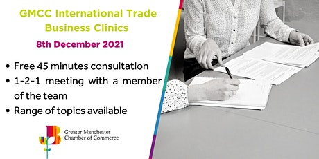 GMCC International Trade Business Clinics - FREE tickets