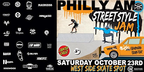 """PHILLY AM """"STREET STYLE JAM""""  at WestSide Skate Spot tickets"""
