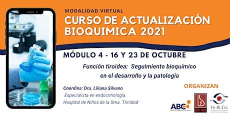 Curso de Actualizacion Bioquimica 2021- Modulo 4 - 16 y 23 de Octubre entradas
