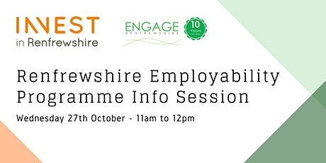 Renfrewshire employability programme info session tickets