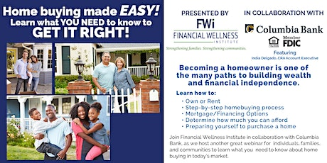 FREE First-Time Homebuyer Webinar in ENGLISH tickets