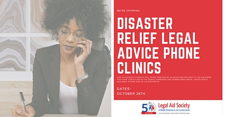 Disaster Relief Legal Advice Phone Clinic tickets