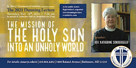 2021 Dunning Lecture with Rev. Katherine Sonderegger, Ph.D. tickets