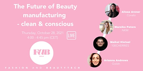 """FAB LIVE WEBINAR """"The Future of Beauty Manufacturing: Clean & Conscious"""" tickets"""