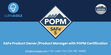 SAFe Product Owner /Product Manager with POPM Certification tickets