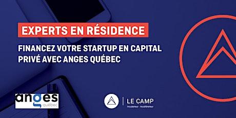Financez votre startup en capital privé avec Anges Québec billets