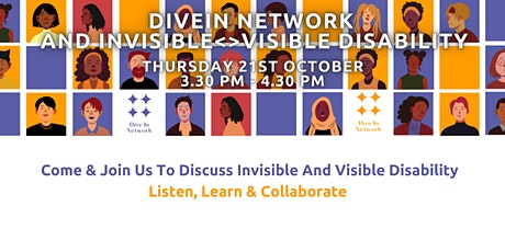 PRE RECORDED - DiveIn Network - Let's Talk Invisible and Visible Disability tickets
