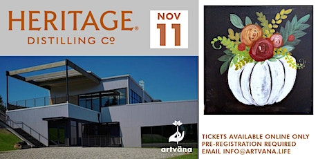 Paint and sip art class at Heritage Distilling Com tickets
