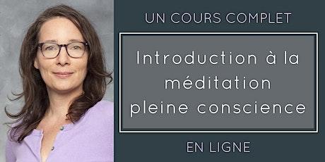 Cours d'introduction à la méditation pleine conscience en ligne (6 h) billets