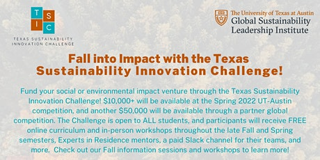 Texas Sustainability Innovation Challenge Fall Events tickets