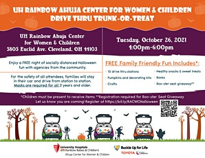 UH Ahuja Rainbow Center for Women & Children Trunk or Treat tickets