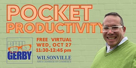 Pocket Productivity tickets
